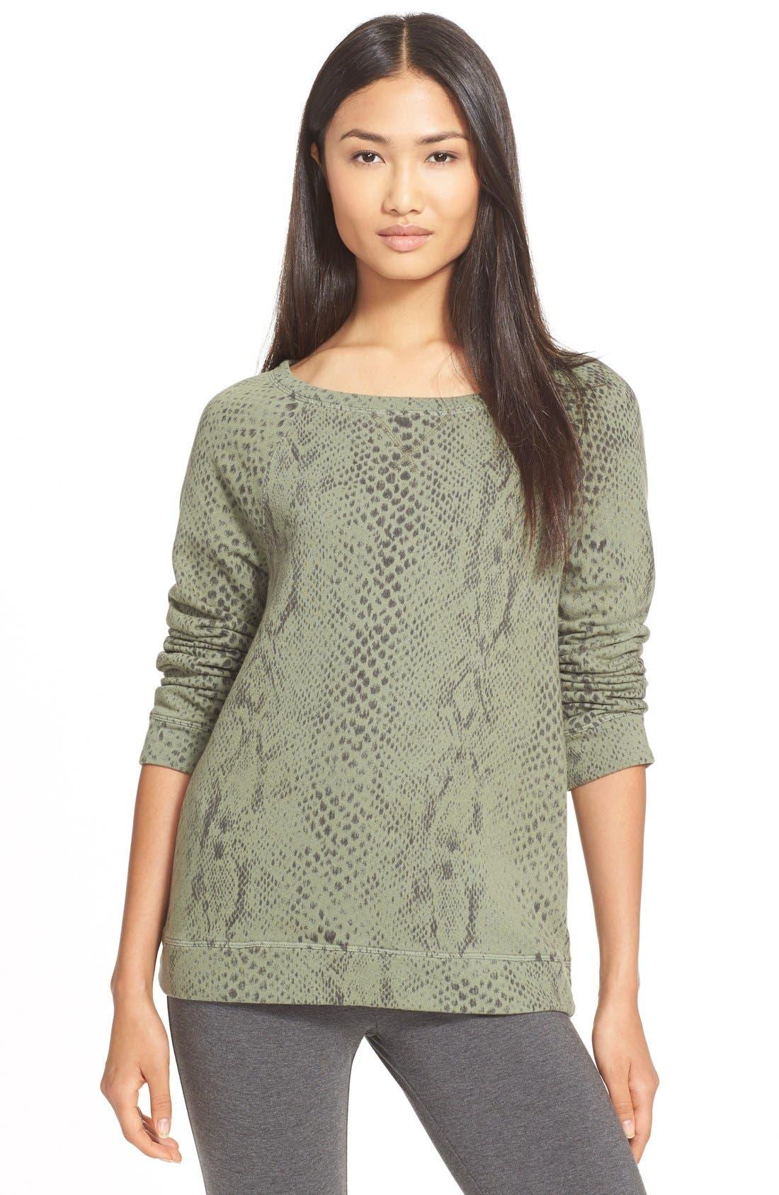Alternate Image 1 Selected - Soft Joie 'Darilynn B' Print Raglan Sleeve Sweatshirt