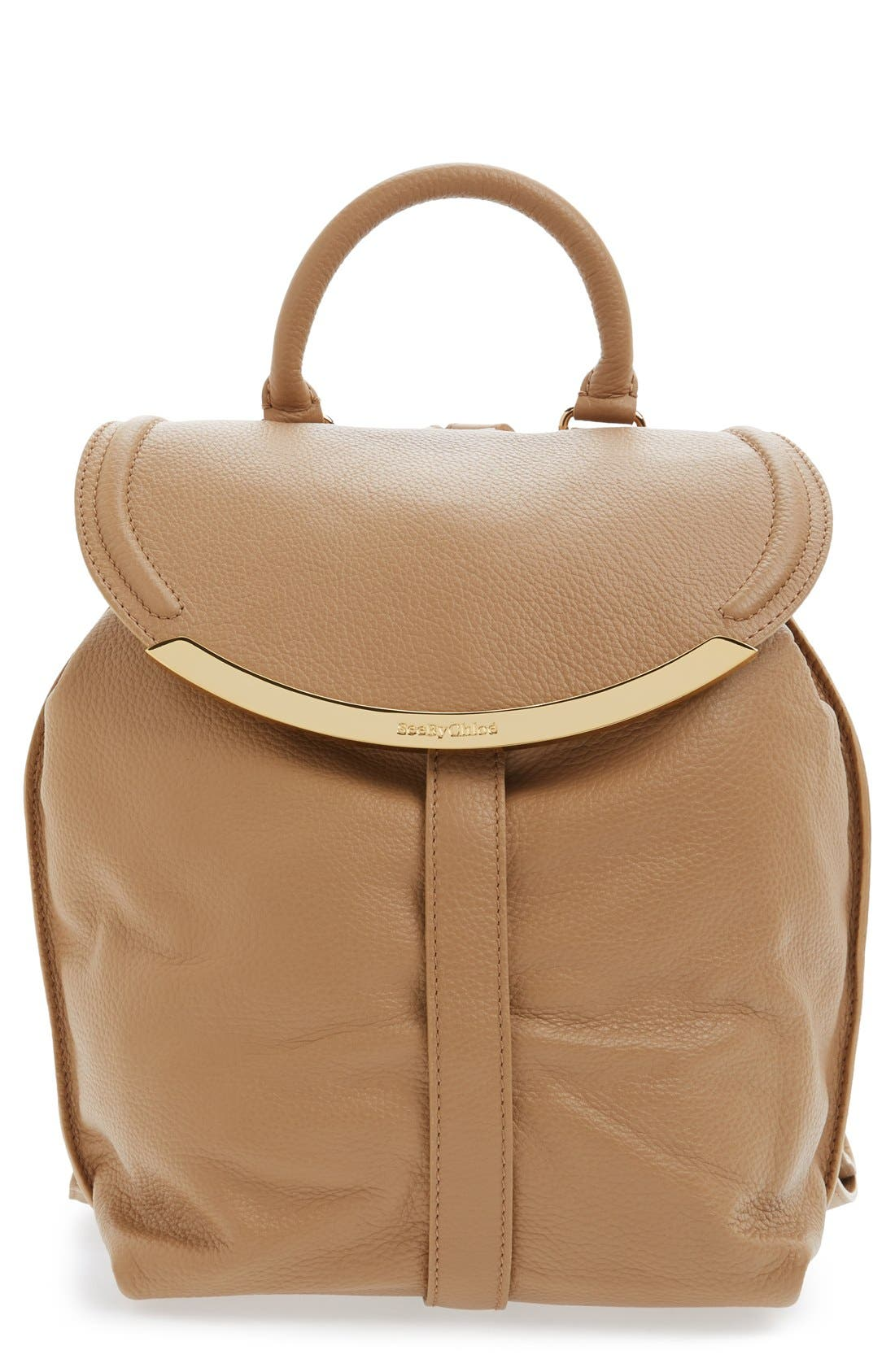 Alternate Image 1 Selected - See by Chloé 'Lizzie' Pebbled Leather Backpack