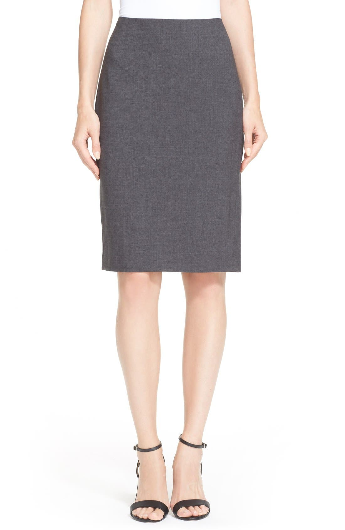 Main Image - Theory Stretch Wool Pencil Skirt