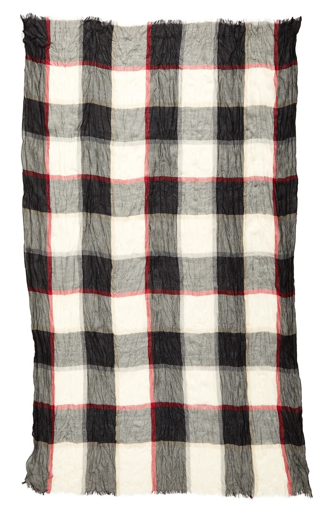 Alternate Image 2  - Steve Madden Crinkle Plaid Scarf