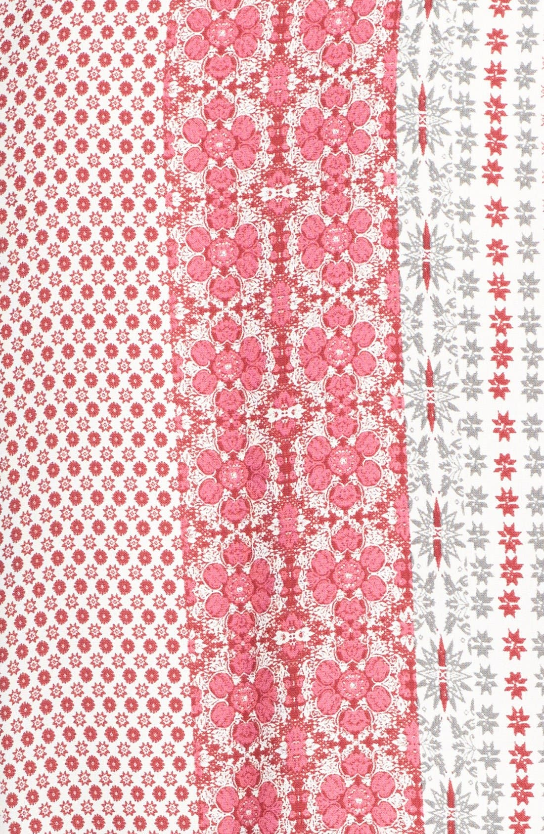 Alternate Image 4  - Fraiche by J Print Long Sleeve Romper