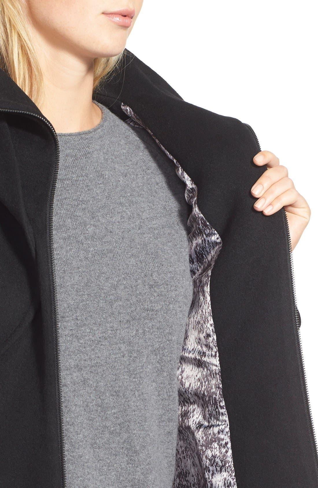 Alternate Image 4  - Soia & Kyo 'Arya' Hooded Wool Blend Coat with Belt