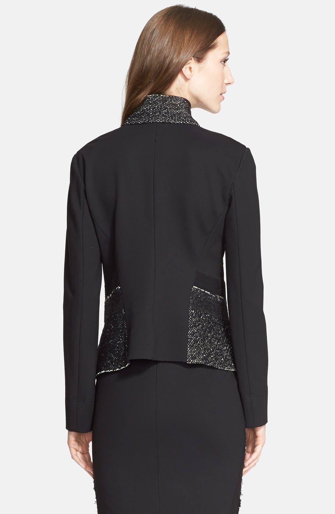Alternate Image 2  - Donna Karan New York Tweed & Jersey Jacket