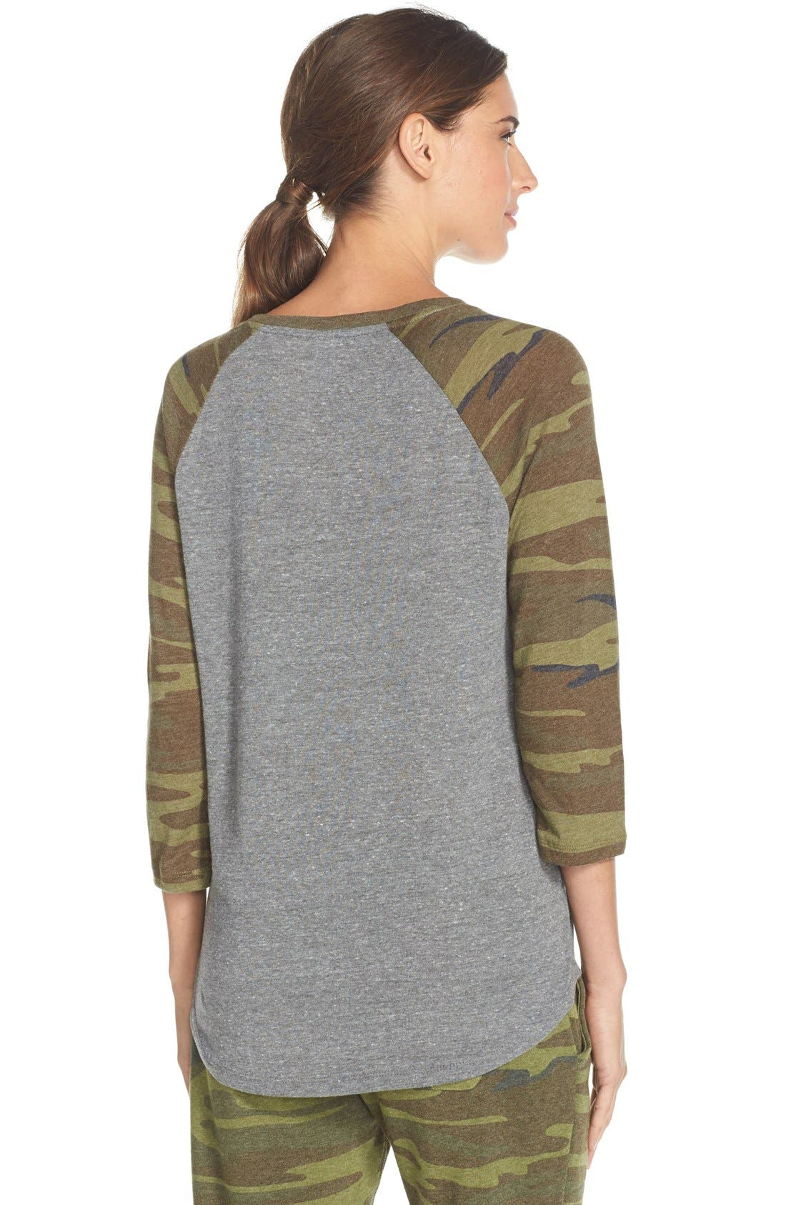 Alternate Image 2  - Alternative Camo Print Baseball Tee