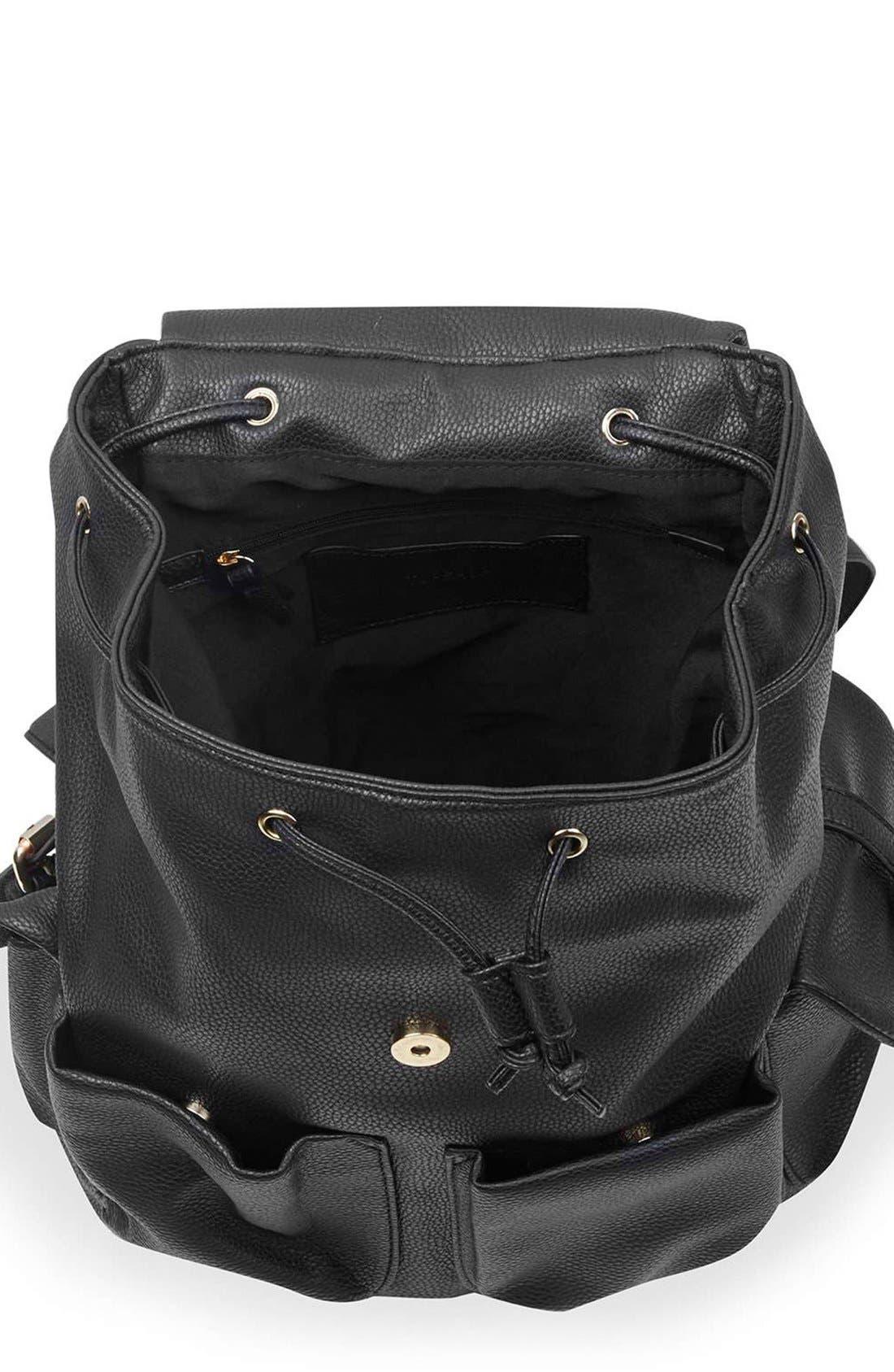 Alternate Image 4  - Topshop 'Edinburgh' Faux Leather Backpack