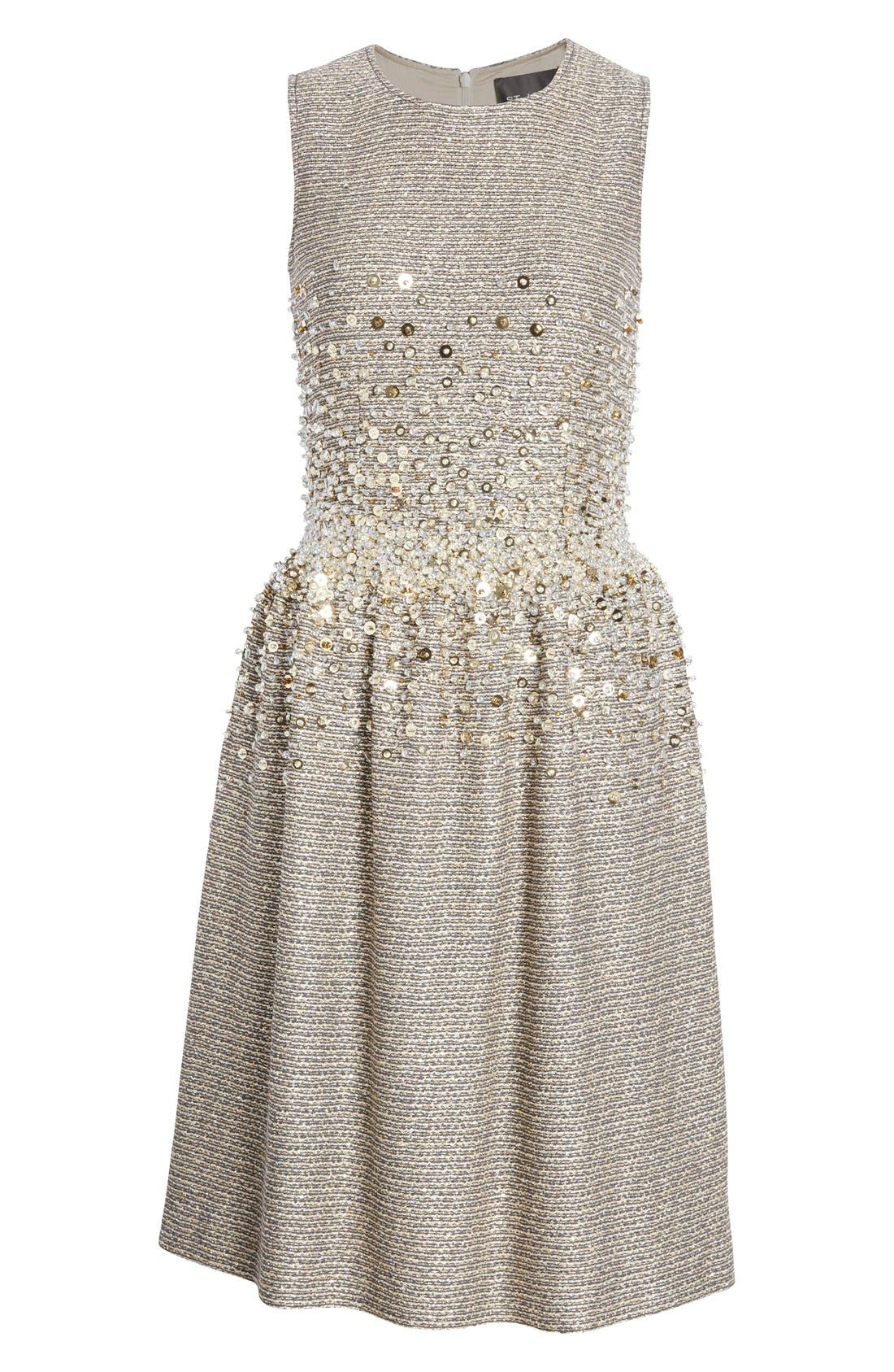 Alternate Image 4  - St. John Collection Hand Beaded Bauble Knit Dress