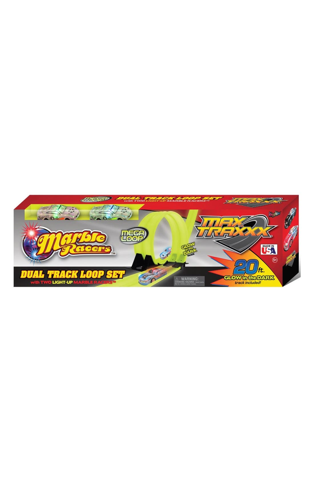 MAX TRAXXX Marble Racers Cars & Dual Track Loop Set