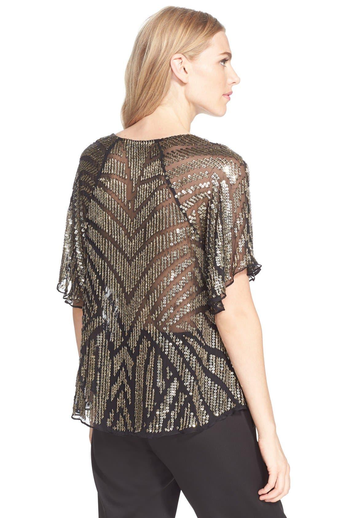 Alternate Image 2  - Parker 'Lucas' Sheer Embellished Silk Top