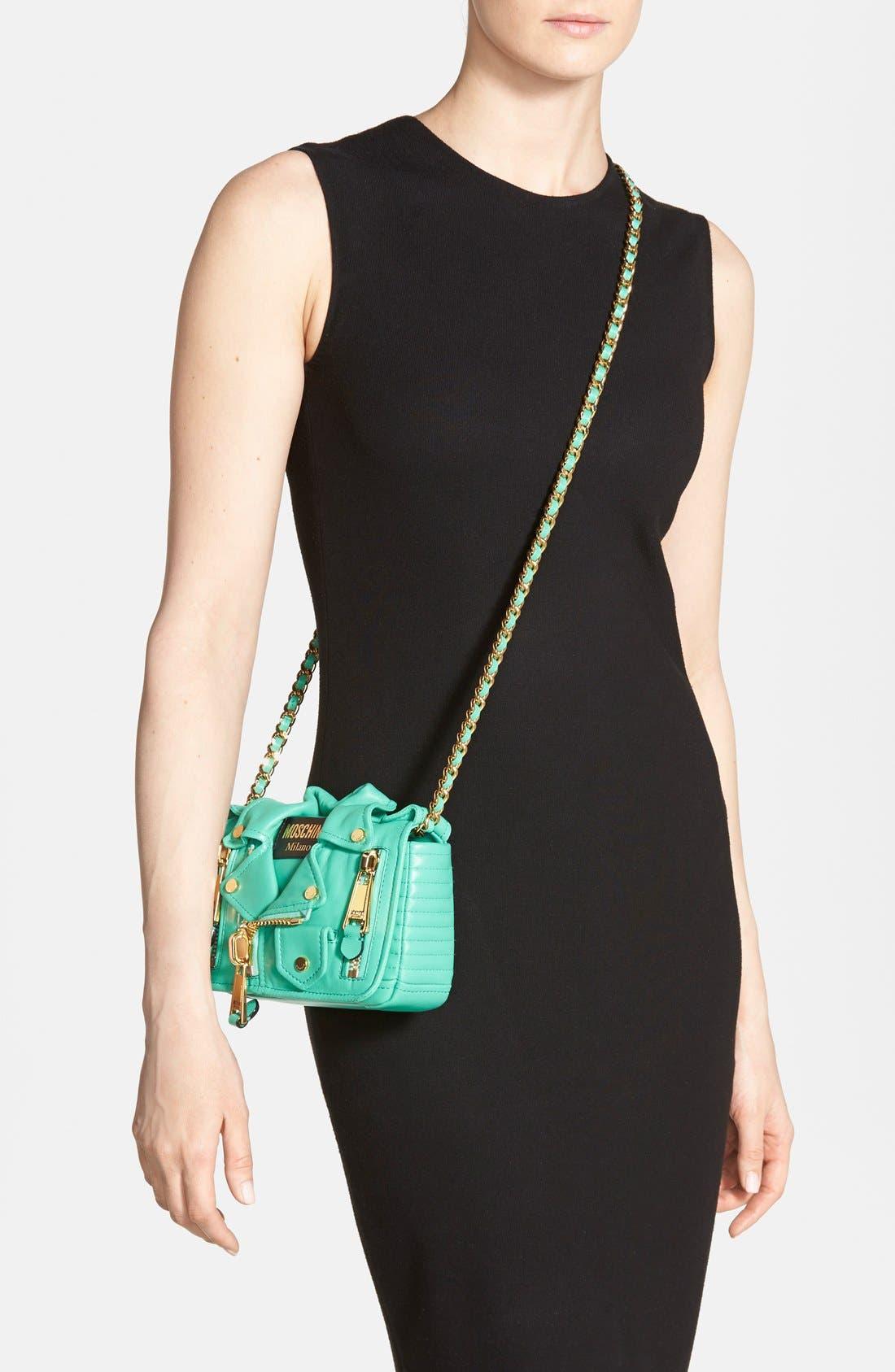 Alternate Image 6  - Moschino 'Mini Leather Jacket' Crossbody Bag