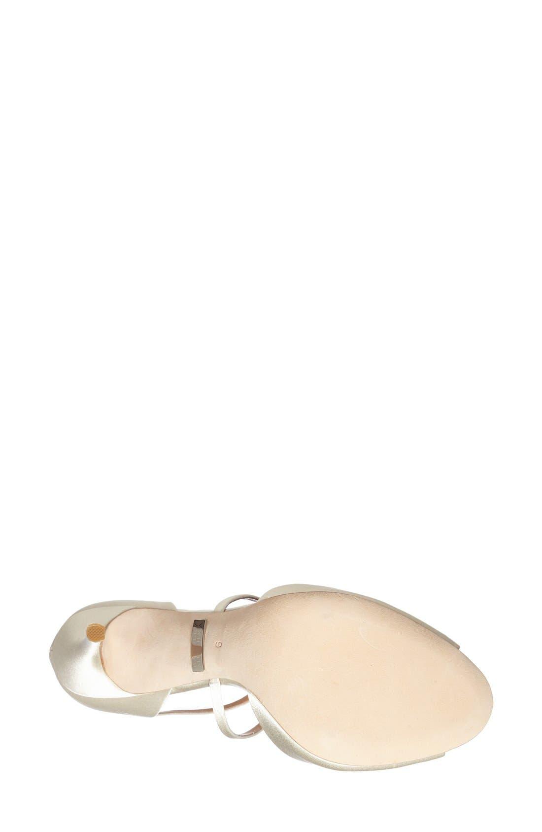 Alternate Image 4  - BadgleyMischka'Sari' Crystal OpenToe Sandal (Women)