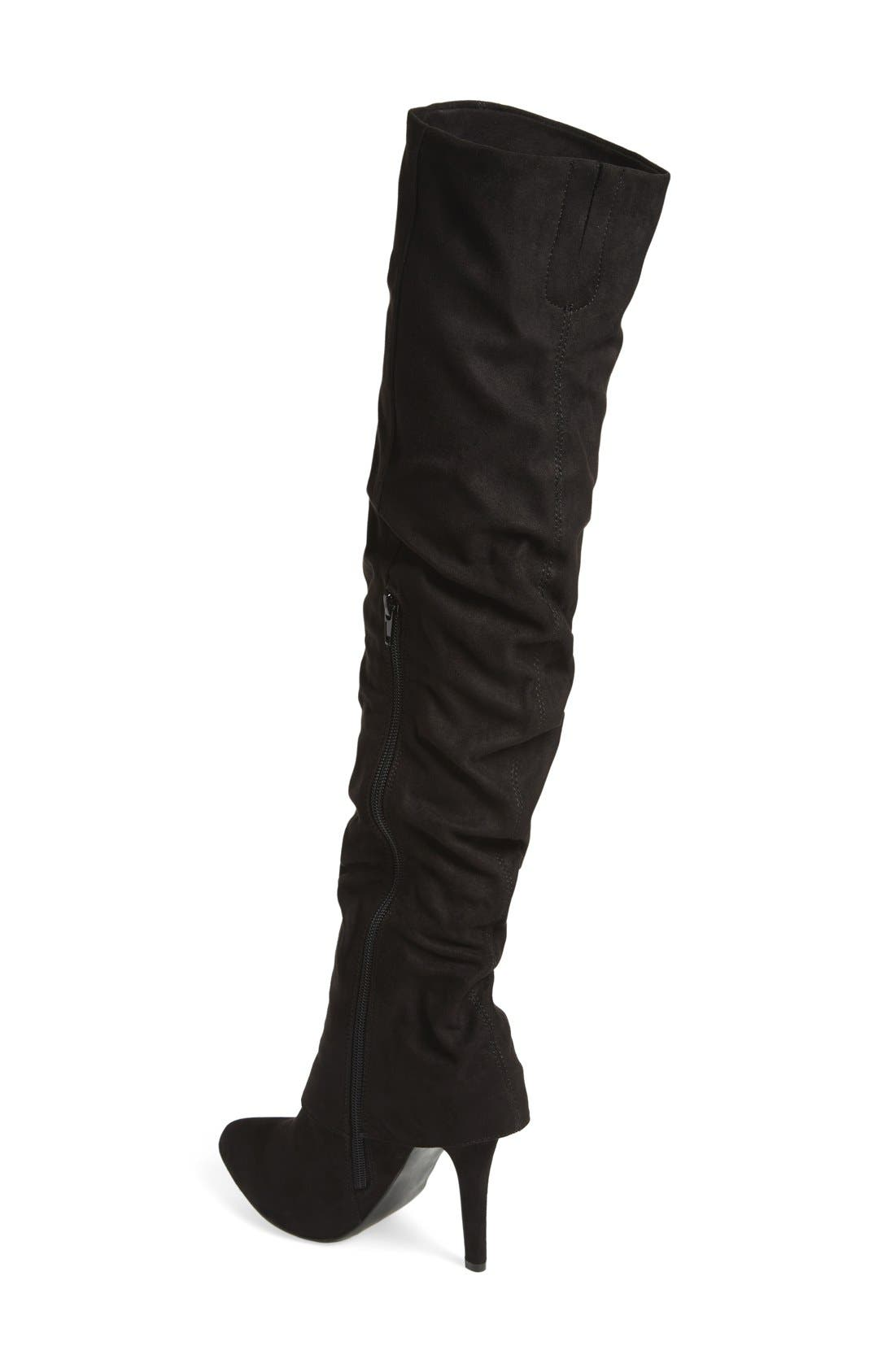 Alternate Image 2  - Nina 'Kymari' Over the Knee Pointy Toe Boot (Women)