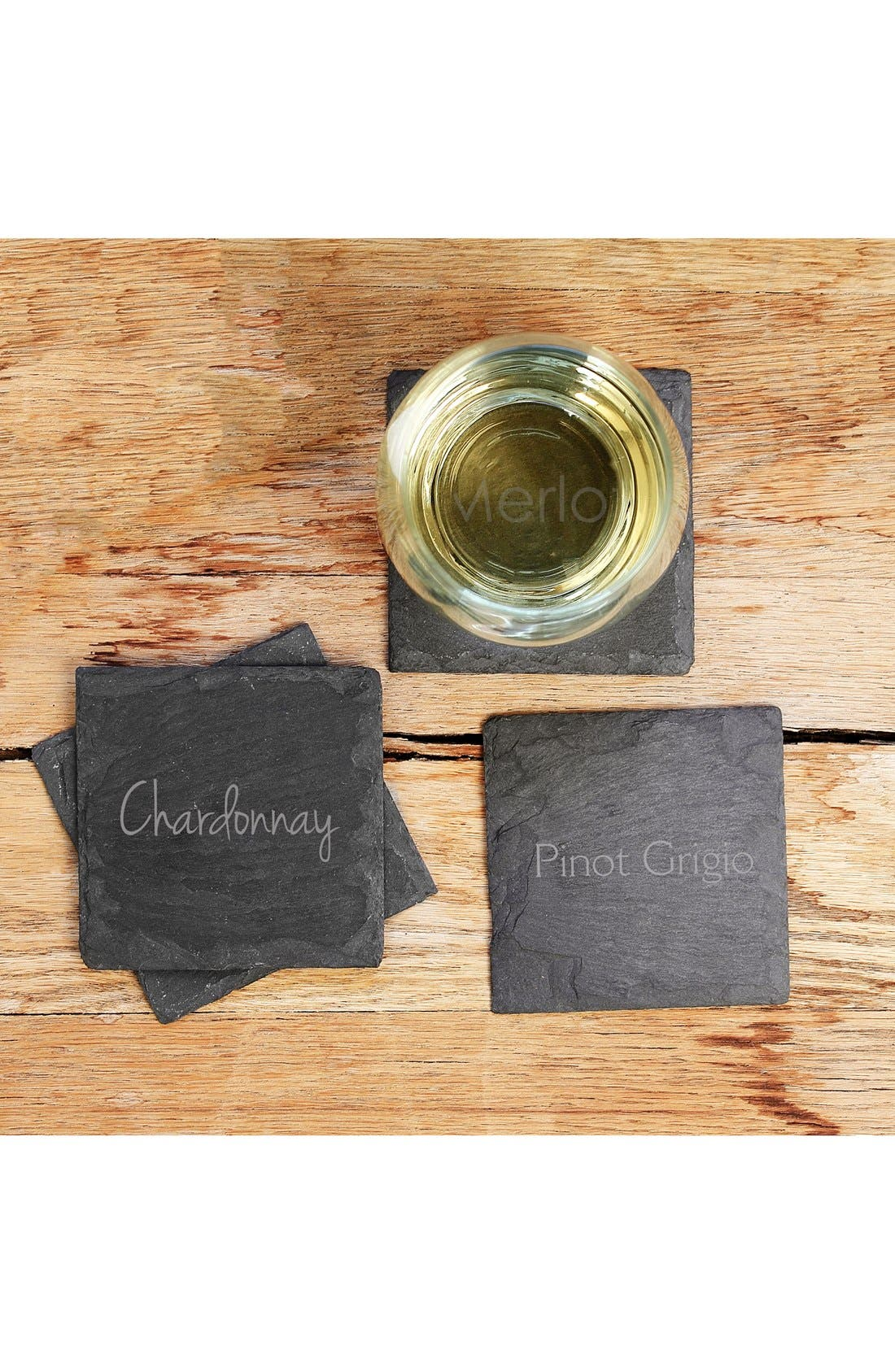 Main Image - Cathy's Concepts 'Wine Connoisseur' Slate Coasters (Set of 4)