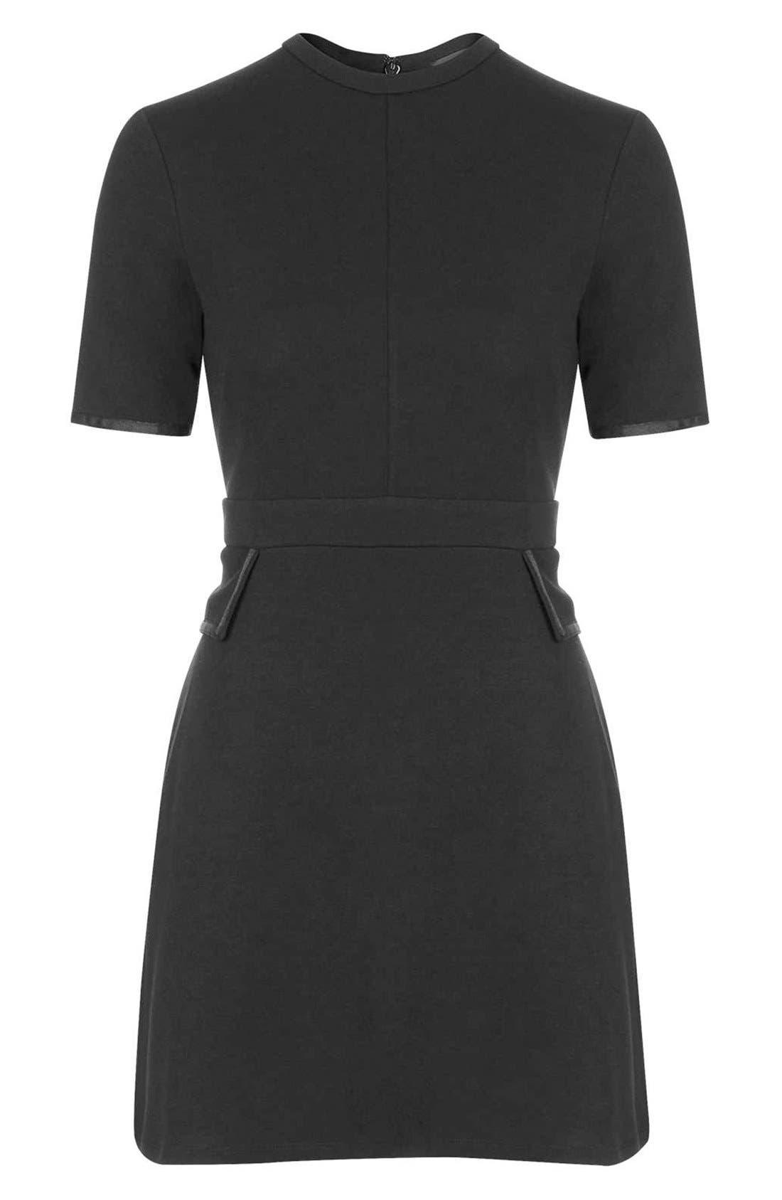Alternate Image 4  - TopshopHigh Neck A-Line Dress