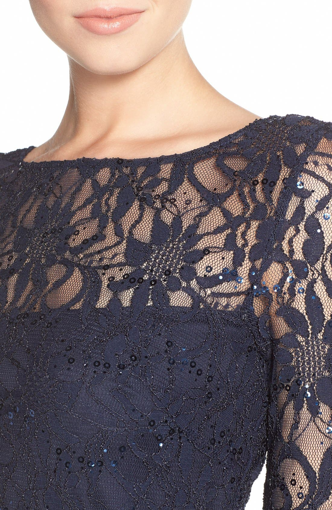 Alternate Image 5  - JS Collections Illusion Lace Dress