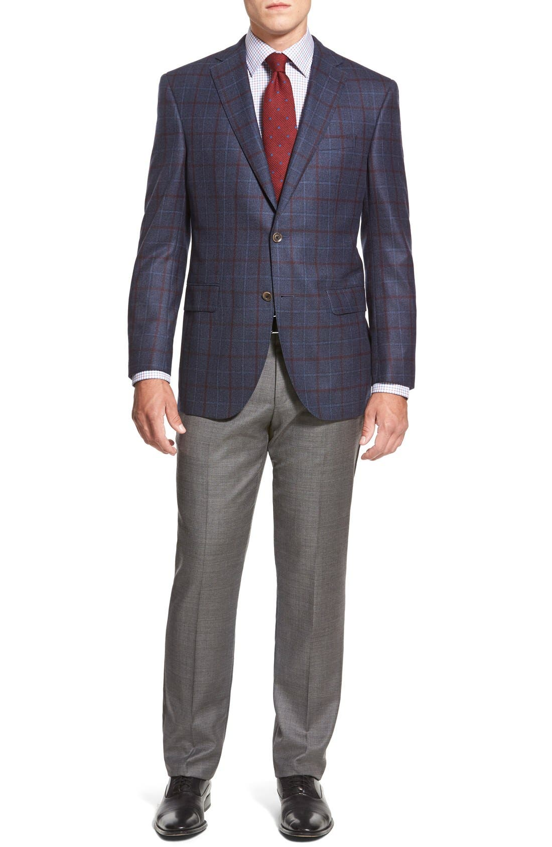 Alternate Image 6  - BOSS HUGO BOSS 'Sharp' Flat Front Wool Trousers