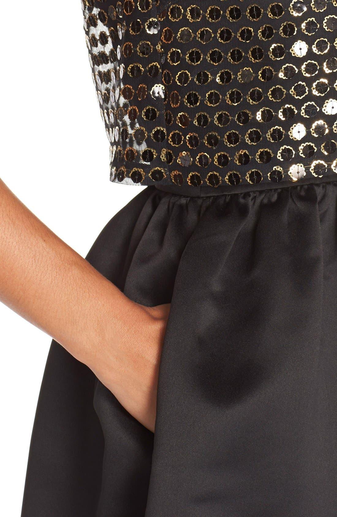 Alternate Image 4  - CeCe by Cynthia Steffe 'Sandy' Sequin Popover Dress