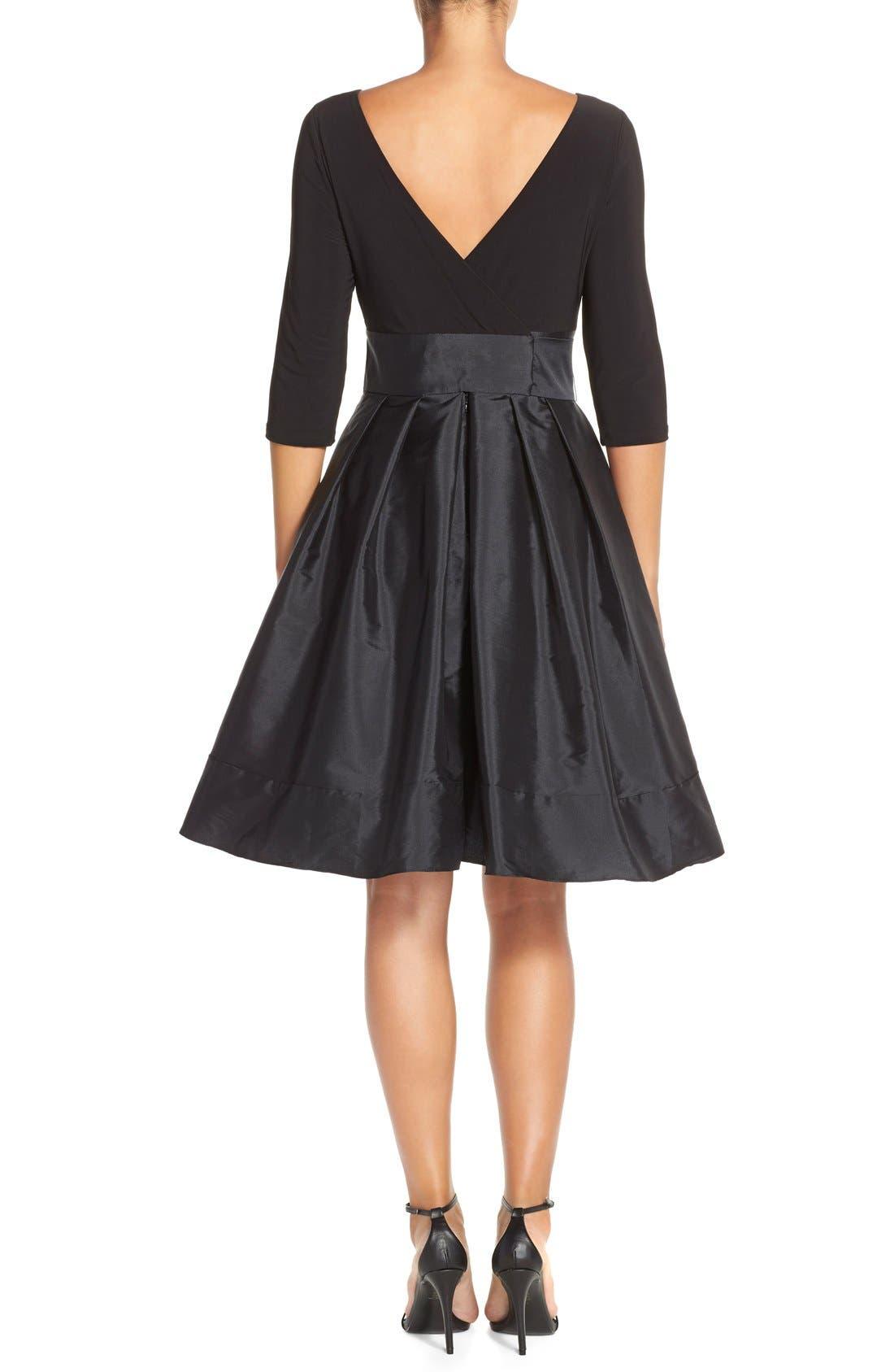 Alternate Image 2  - Adrianna PapellBow Taffeta Fit & Flare Dress (Regular & Petite)
