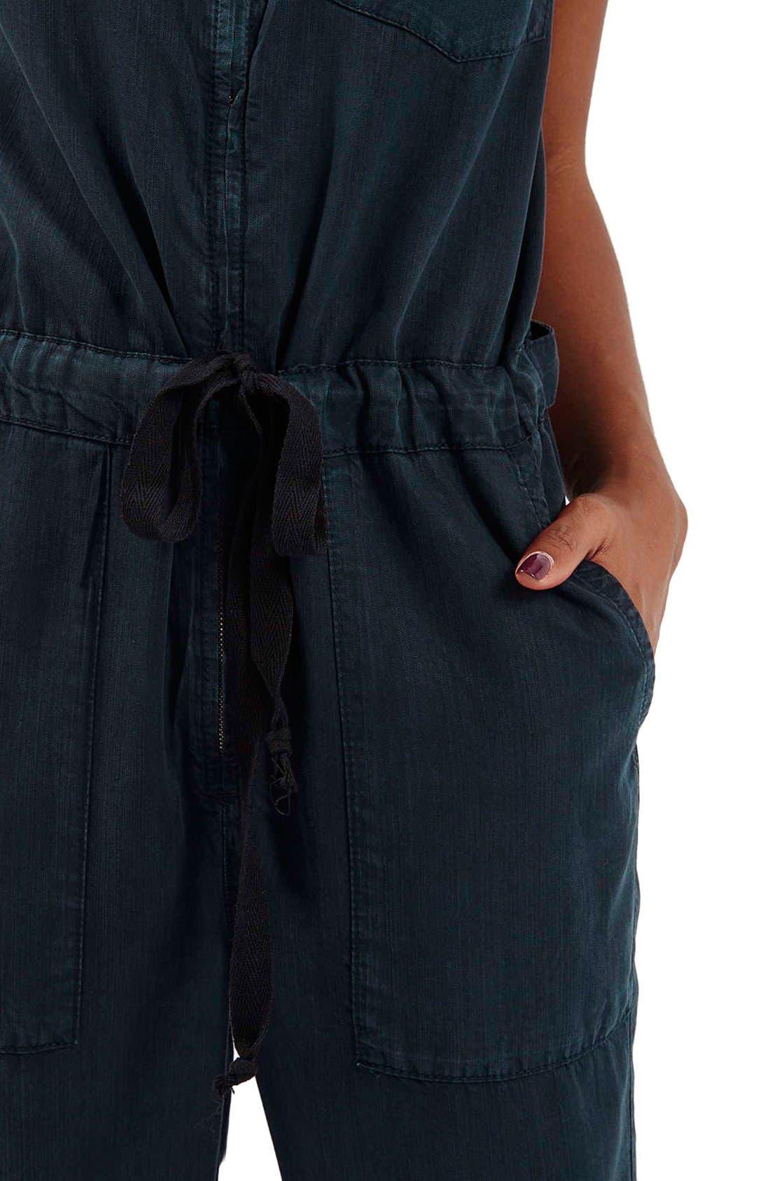 Alternate Image 3  - Topshop Sleeveless Zip Front Jumpsuit