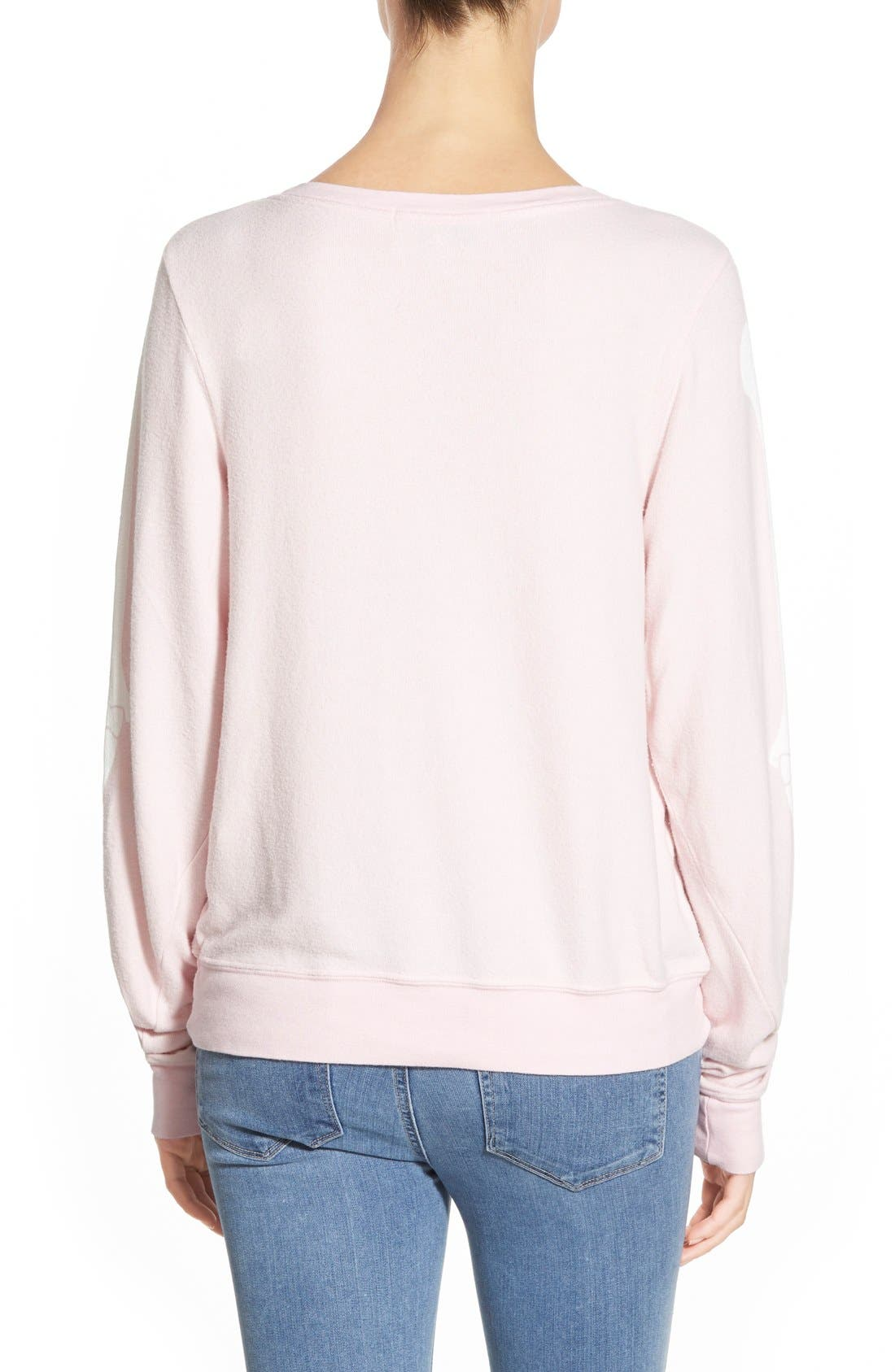 Alternate Image 3  - Wildfox 'Inside Out' Long Sleeve Sweatshirt