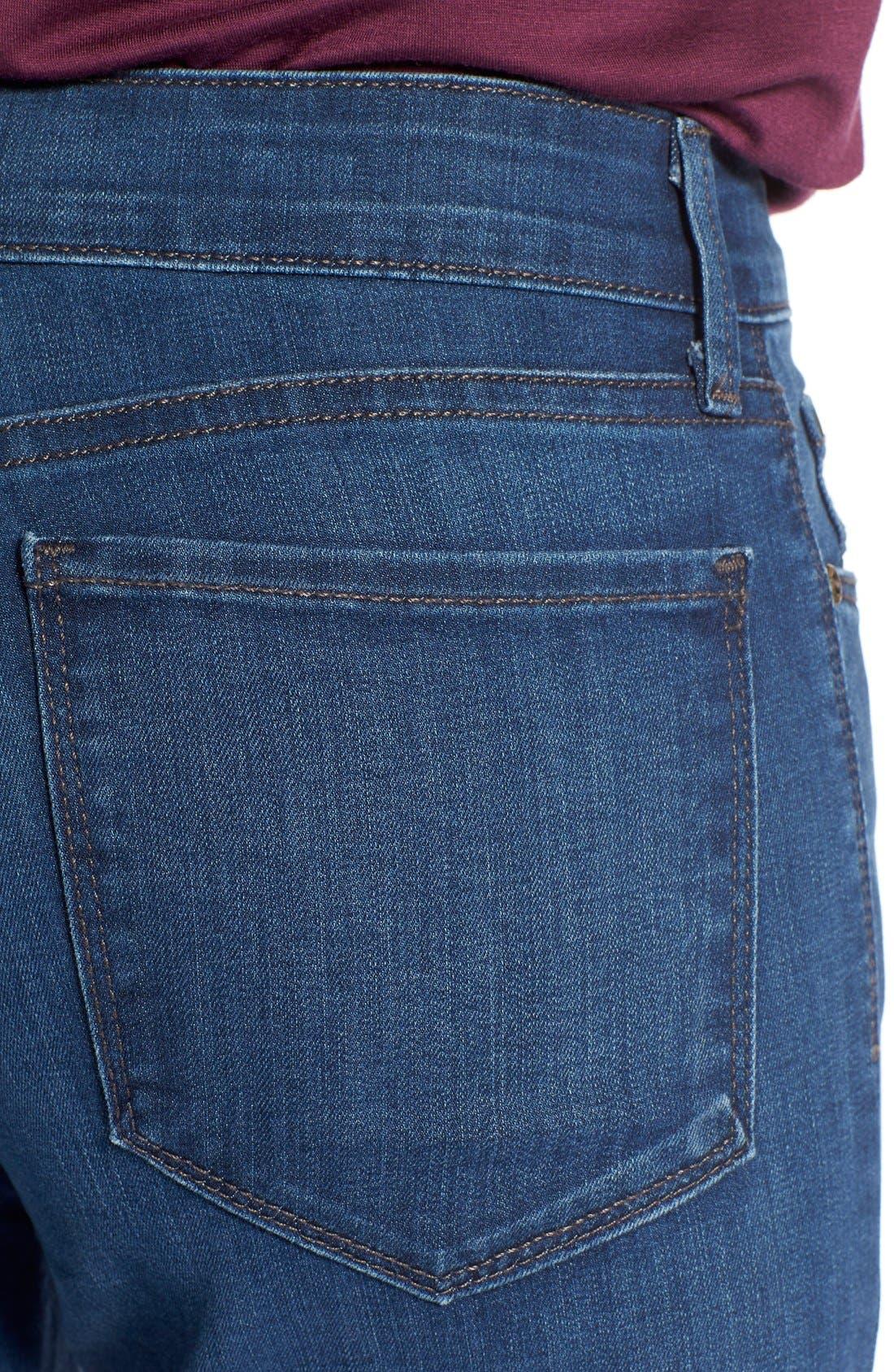 Alternate Image 4  - NYDJ'Sheri' Stretch Skinny Jeans (Valencia)(Petite)