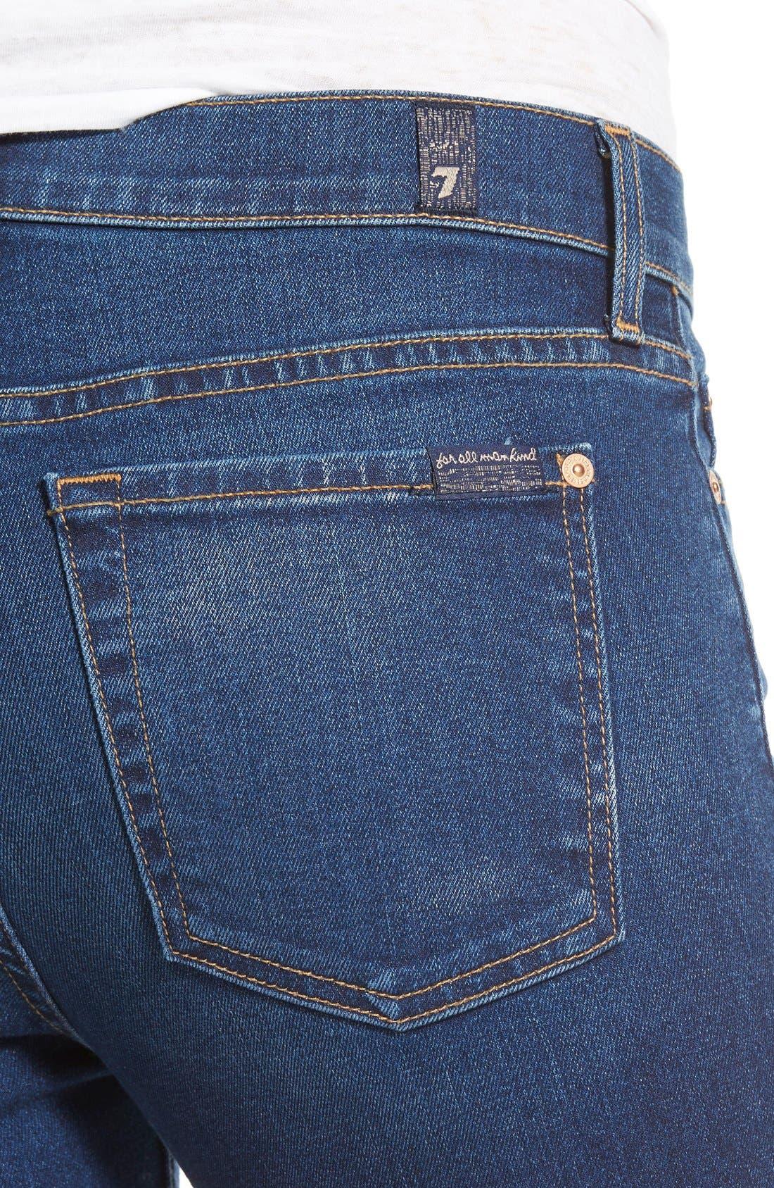 Alternate Image 4  - 7 For All Mankind® Destroyed Ankle Skinny Jeans (Stunning Seville 2)