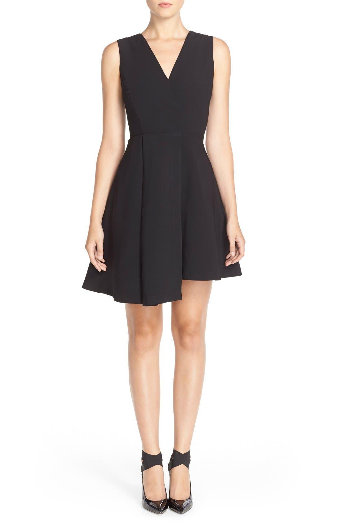 Alternate Image 4  - Adelyn Rae Asymmetrical Fit & Flare Dress