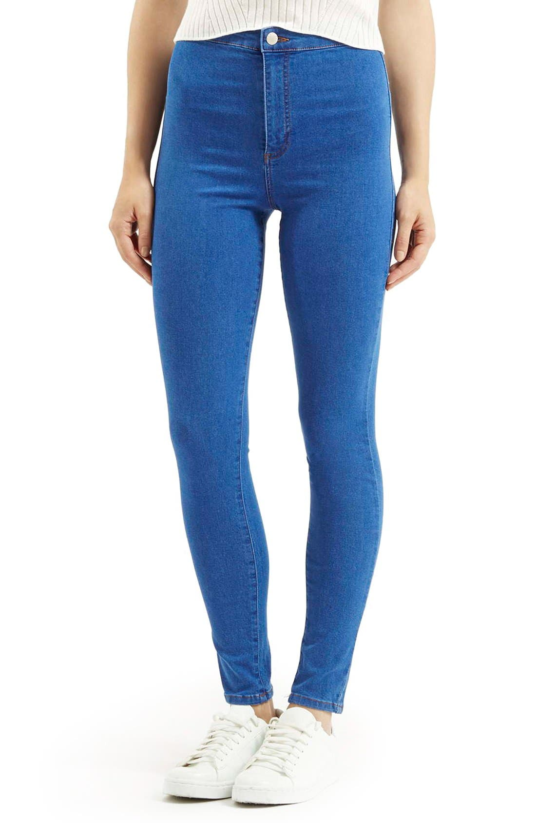 Alternate Image 1 Selected - Topshop Moto 'Joni' High Rise Skinny Jeans (Short)