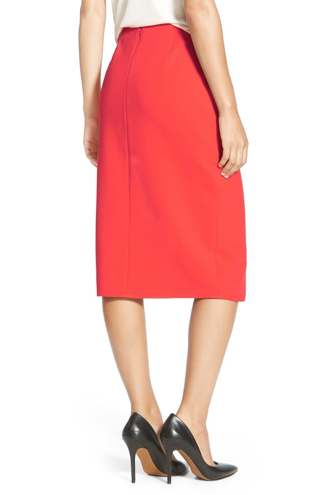 Alternate Image 3  - Halogen® Belt Detail FauxWrap Skirt