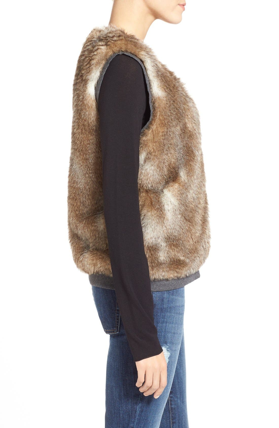 Alternate Image 3  - Splendid 'Ashville' Faux Fur Reversible Vest