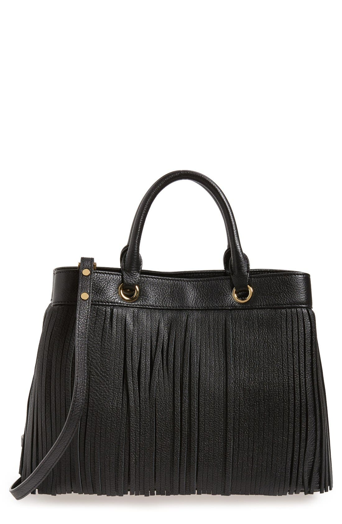 Main Image - MillyFringed Leather Tote