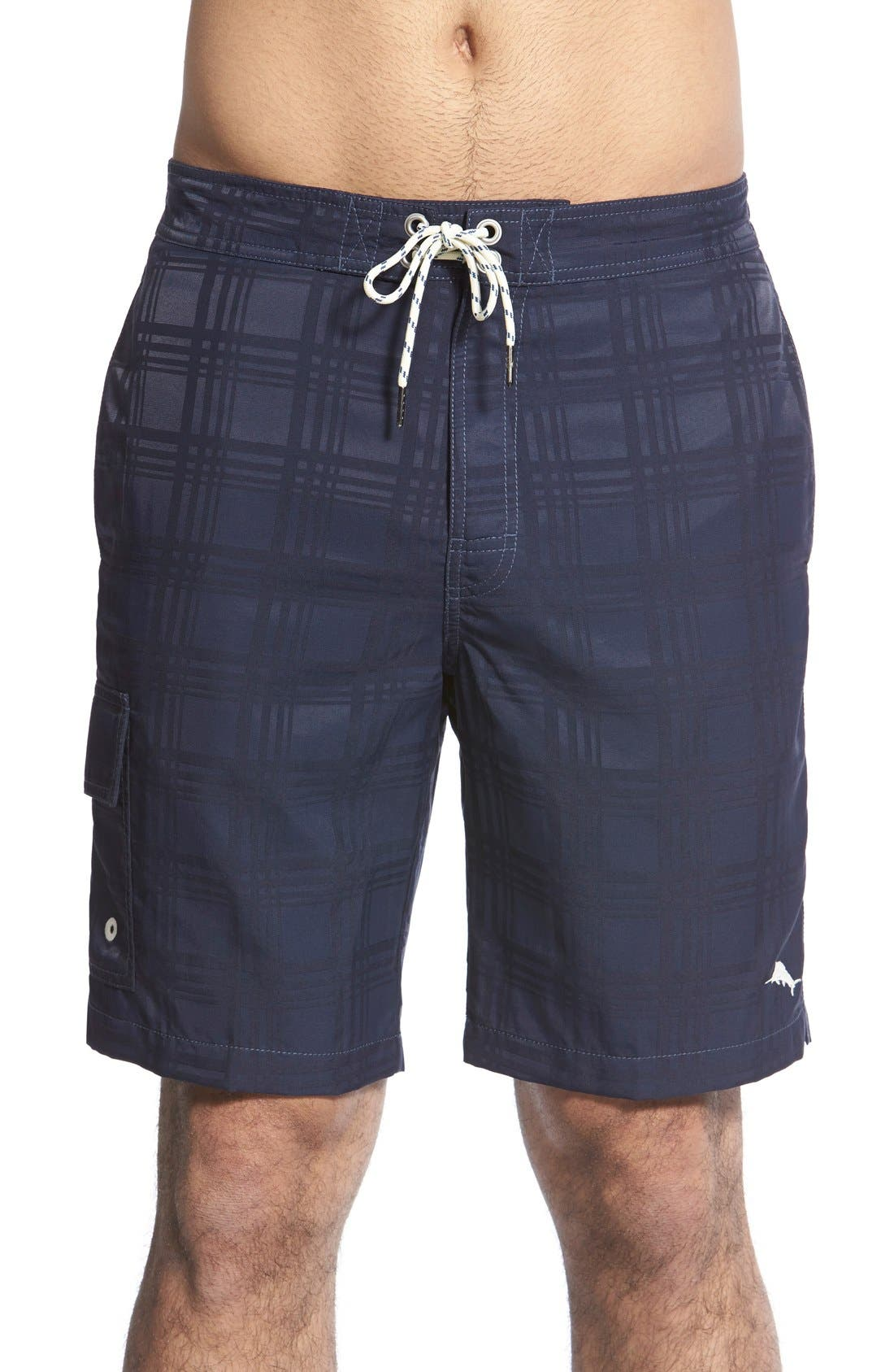 TOMMY BAHAMA 'Baja Plaid' Board Shorts