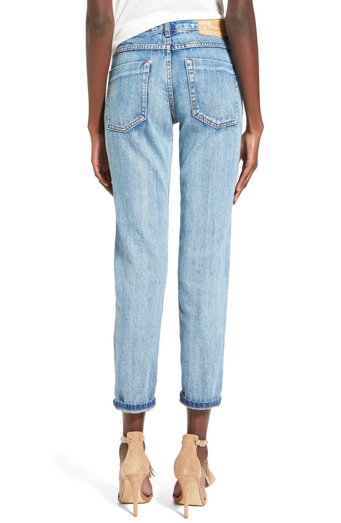 Alternate Image 2  - One Teaspoon 'Awesome Baggies' CropBoyfriend Jeans