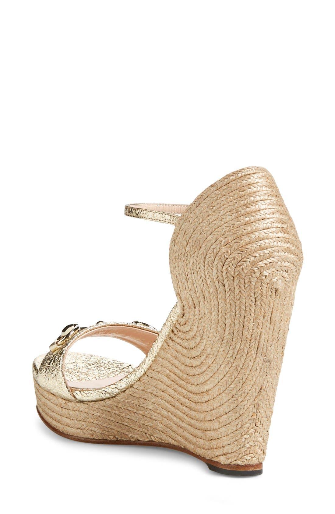 Alternate Image 2  - Gucci 'Carolina' Wedge Sandal (Women)
