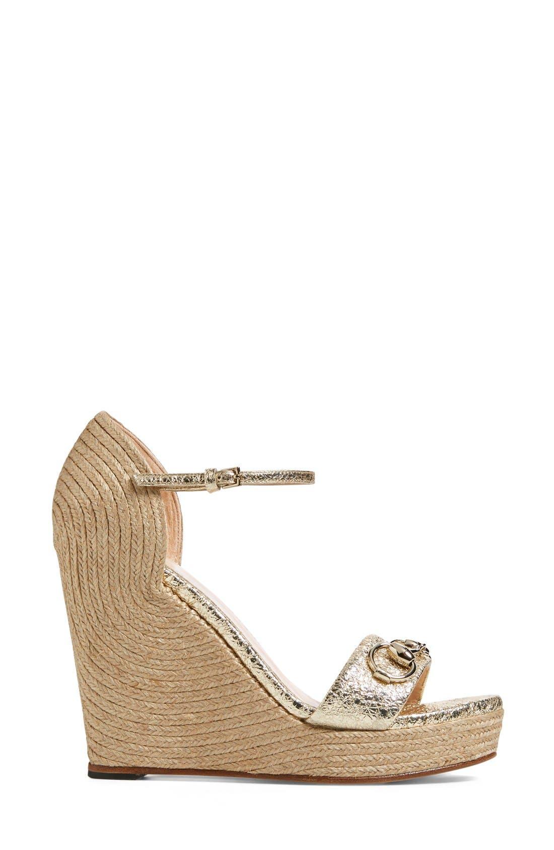 Alternate Image 4  - Gucci 'Carolina' Wedge Sandal (Women)