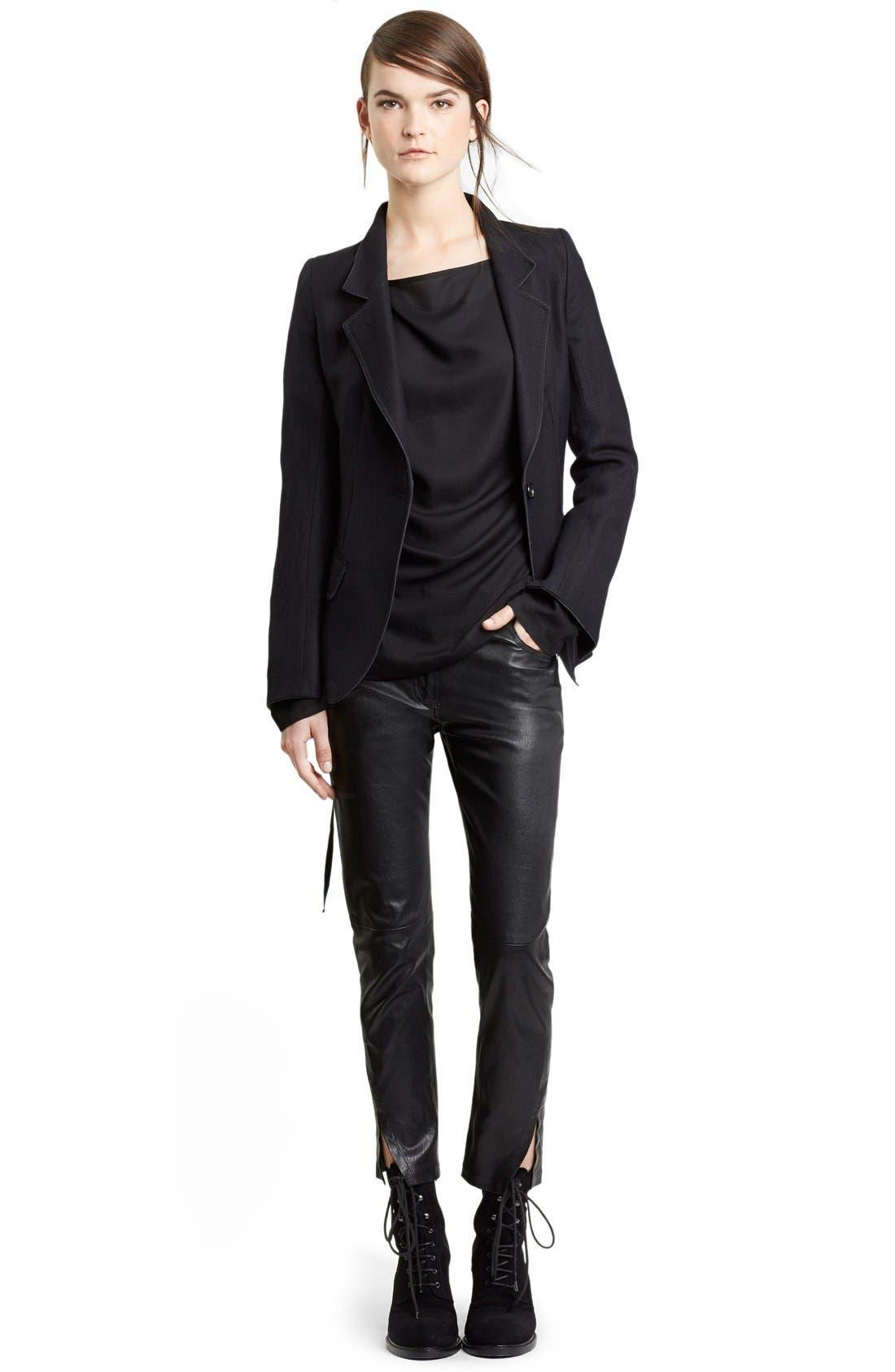 Alternate Image 3  - Ann Demeulemeester Wool & Linen One-Button Jacket