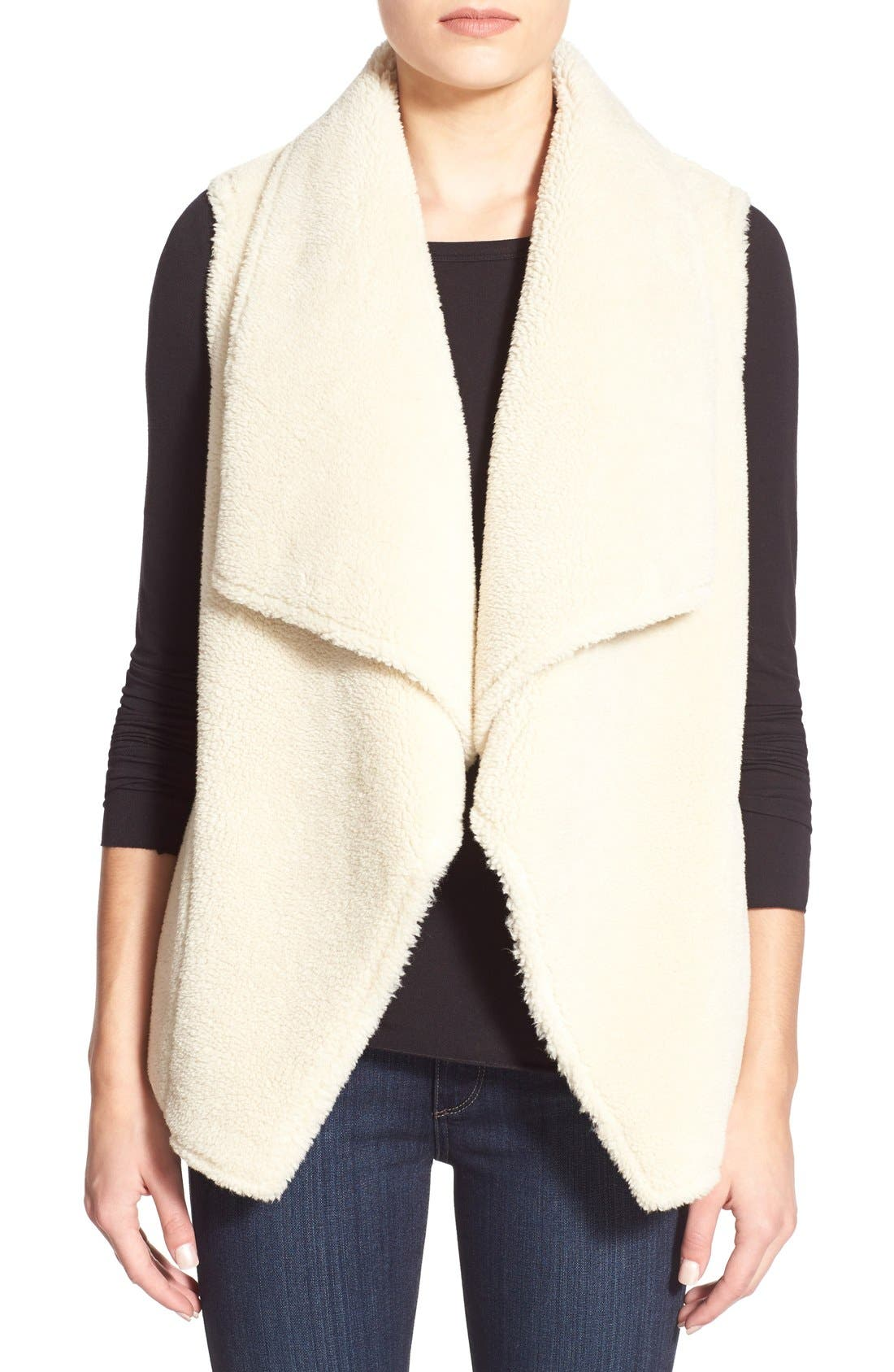 Alternate Image 1 Selected - Velvet by Graham & Spencer Reversible Faux Shearling Vest