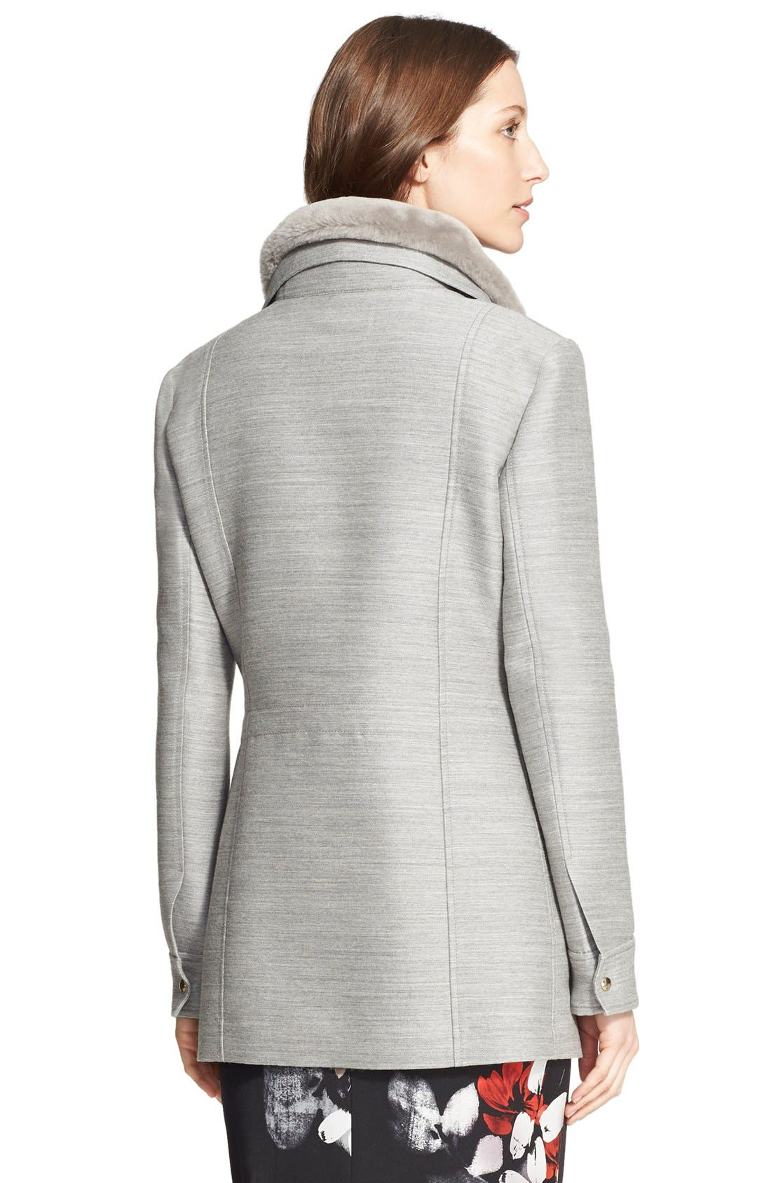 Alternate Image 2  - Nordstrom Signature and Caroline Issa 2-in-1 Parka with Genuine Shearling Collar