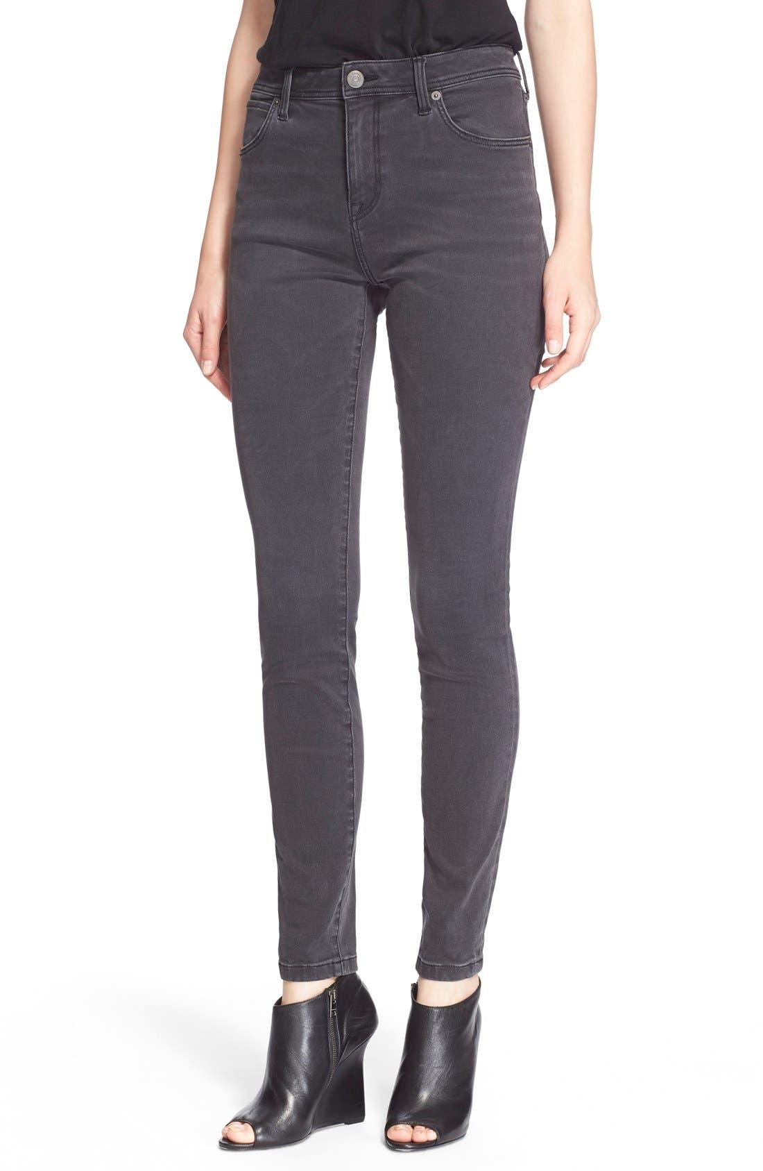 Alternate Image 1 Selected - Burberry Brit Skinny Jeans (Mid Grey)