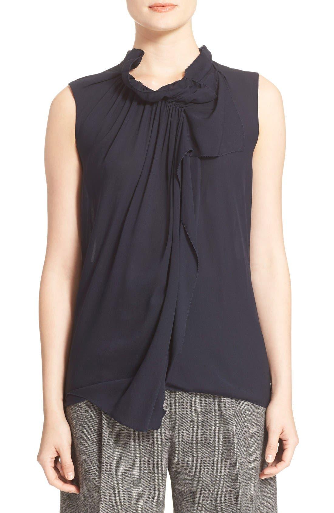 Alternate Image 1 Selected - 3.1 Phillip Lim Shirred Sleeveless Silk Blouse
