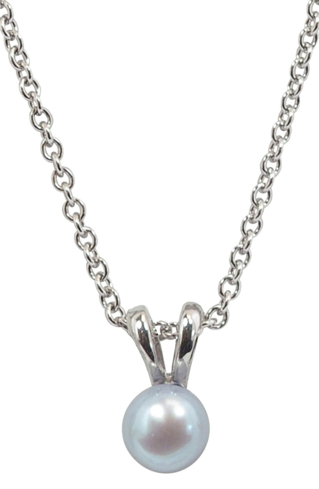 HONORALight Blue Freshwater Pearl Necklace (Girls)