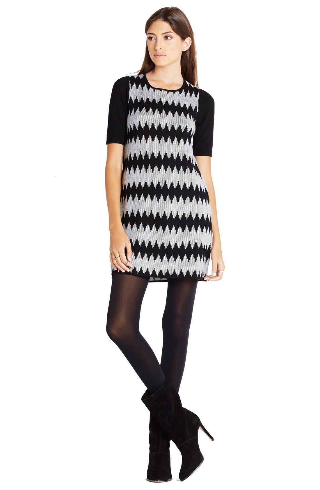 Alternate Image 3  - BCBGeneration Jacquard Shift Sweater Dress