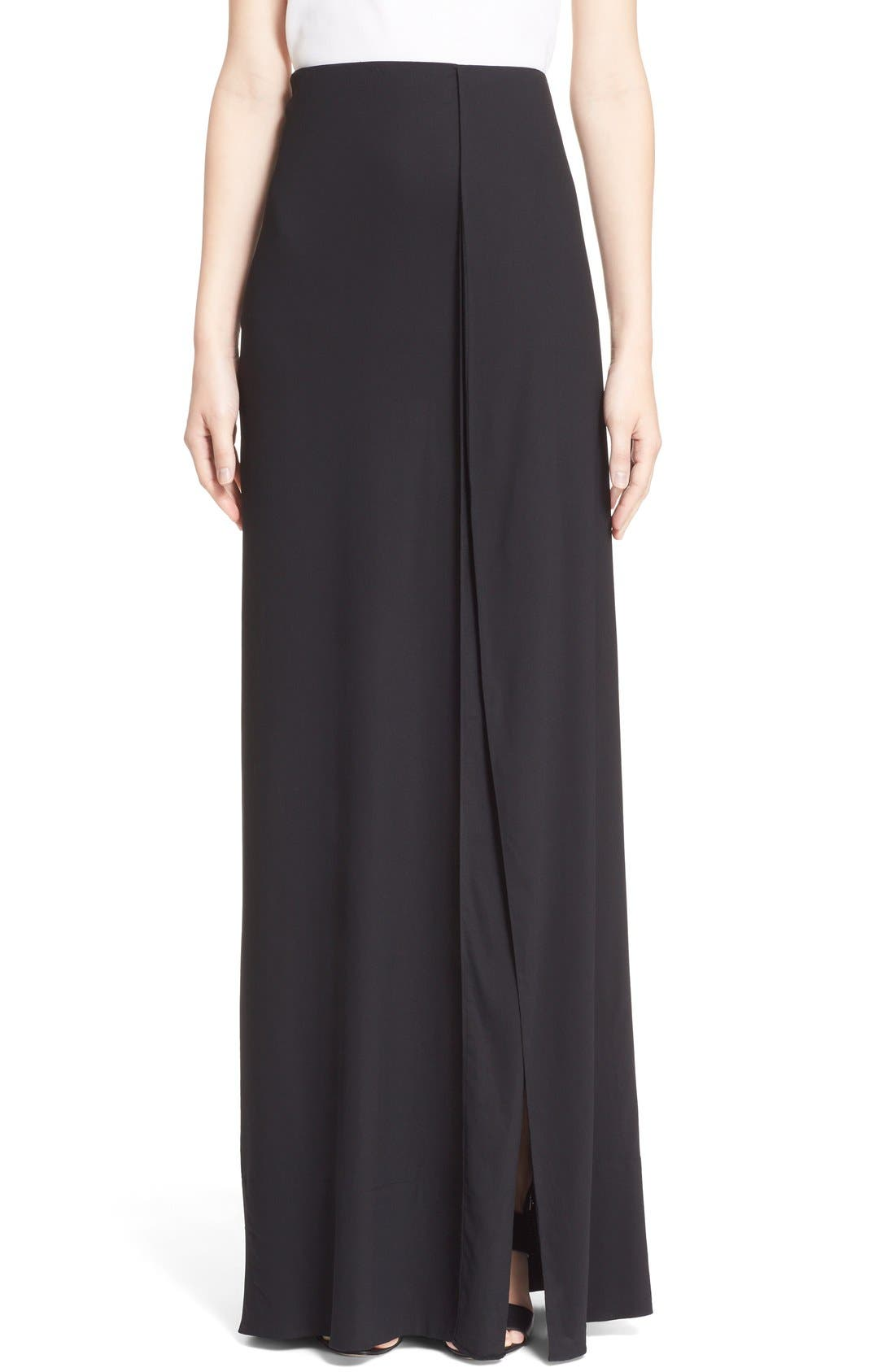 Main Image - Donna Karan New York Crepe Flutter Maxi Skirt