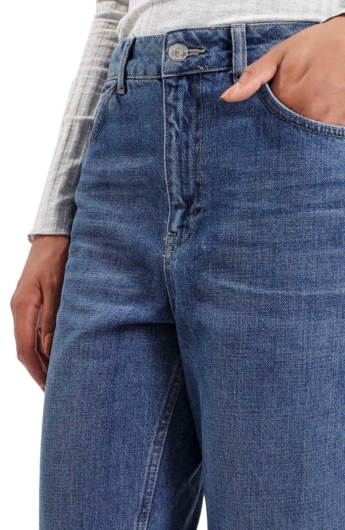 Alternate Image 5  - Topshop Moto High Rise Crop Jeans (Dark Denim)