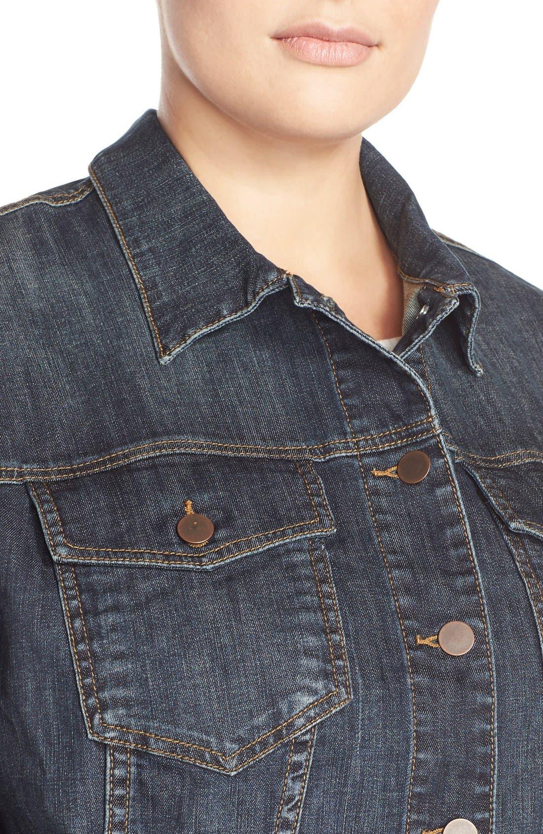 Alternate Image 4  - KUT from the Kloth Denim Jacket (Plus Size)