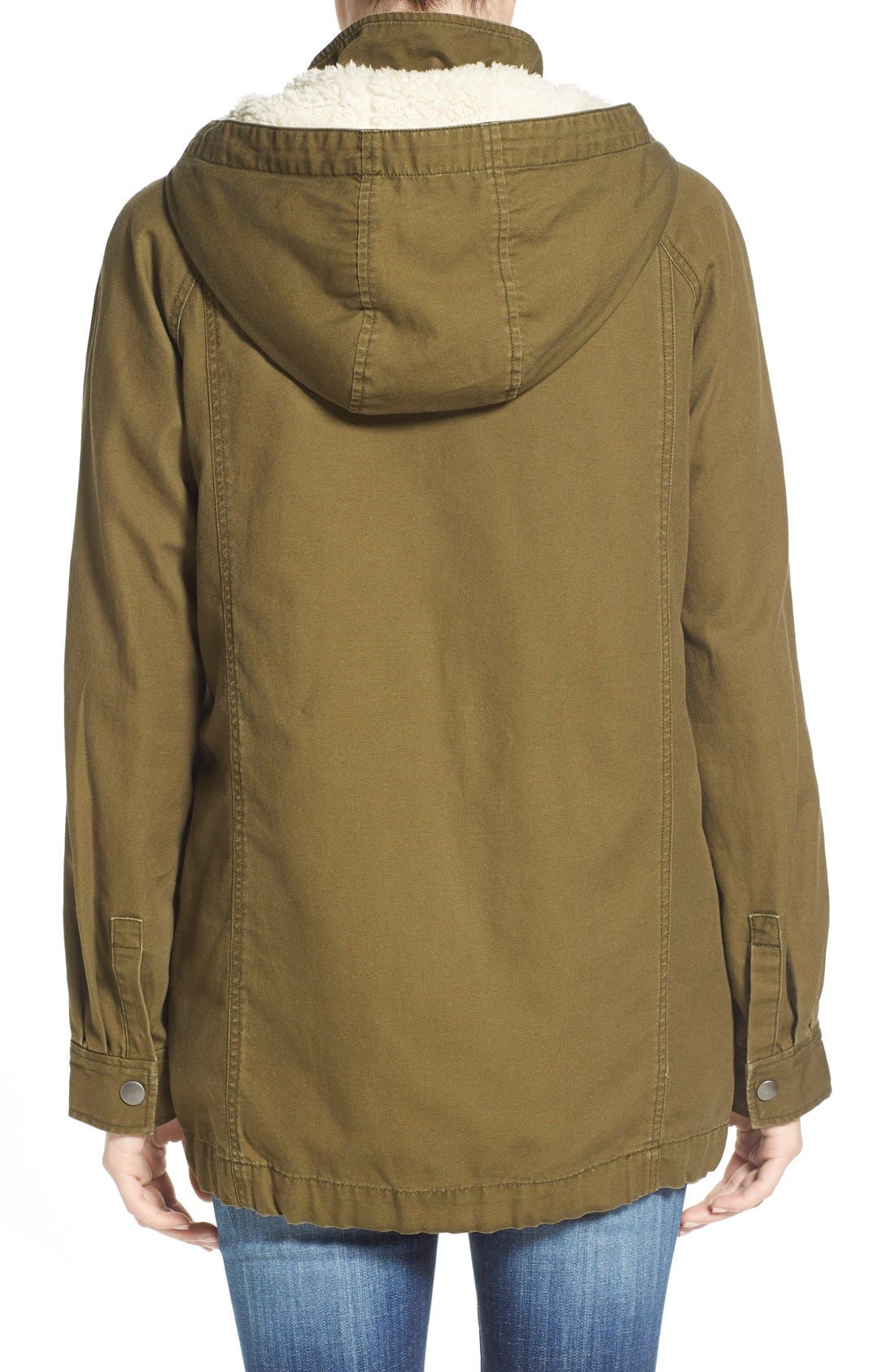Alternate Image 2  - BP. Faux Shearling Lined Slouchy Jacket