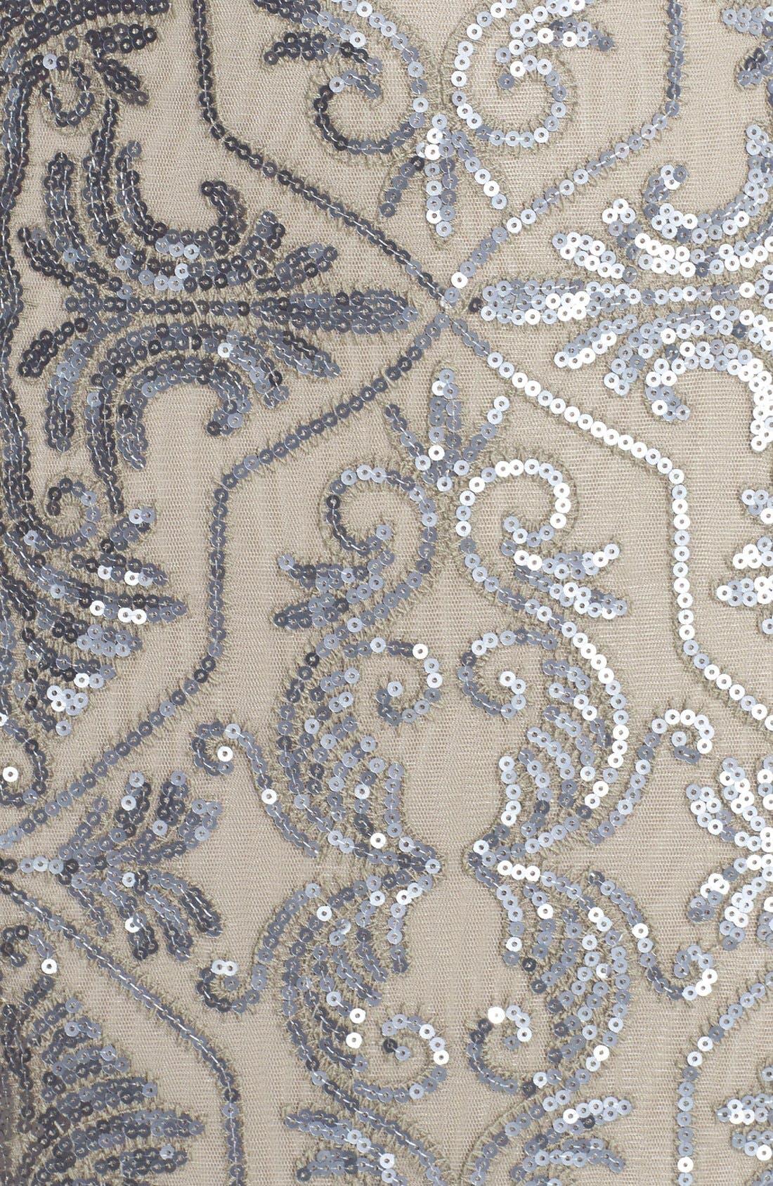 Alternate Image 5  - Tadashi Shoji Sequin Tulle Mermaid Gown
