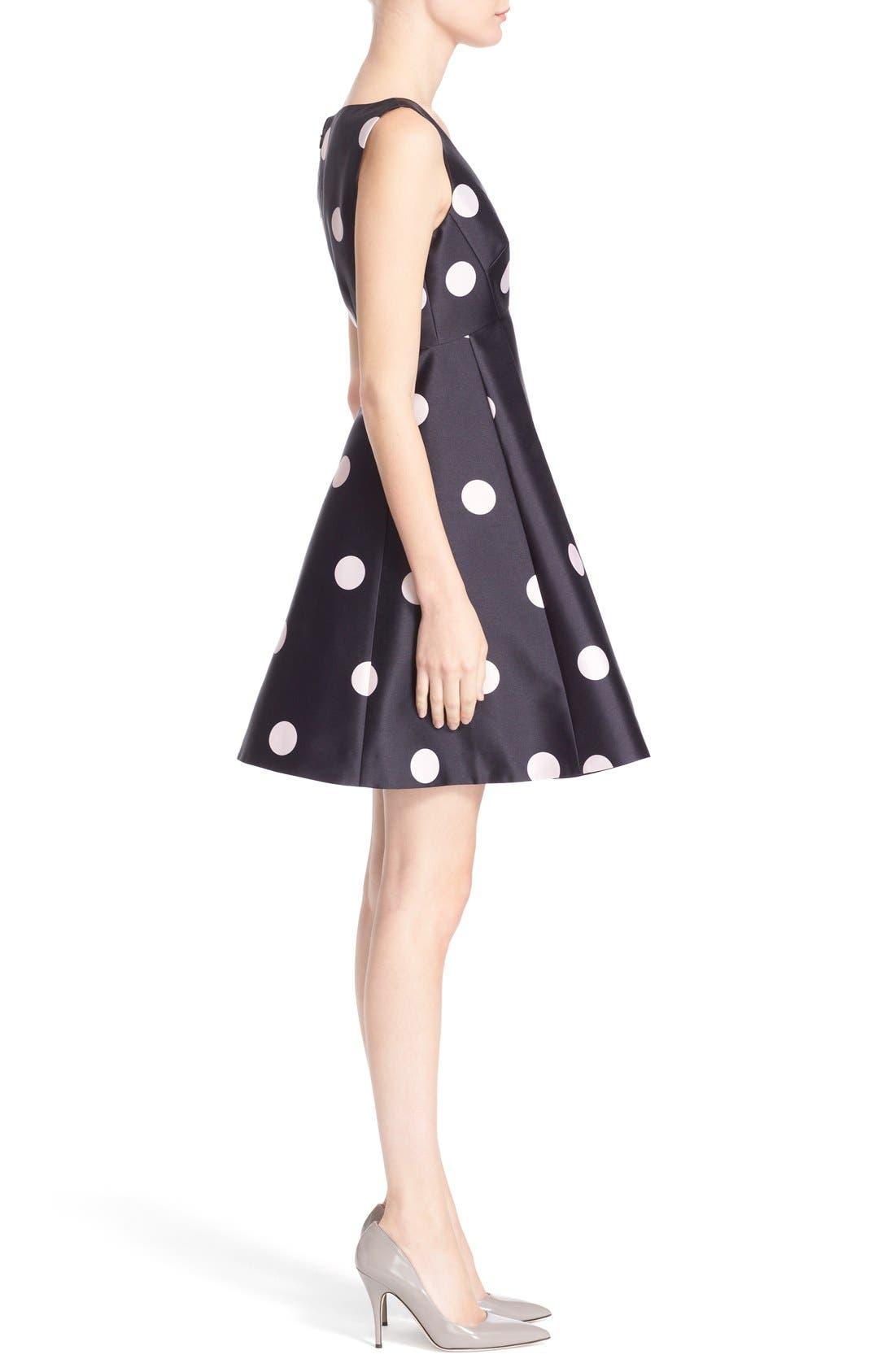 Alternate Image 3  - kate spade new york v-neck polka dot fit & flare dress