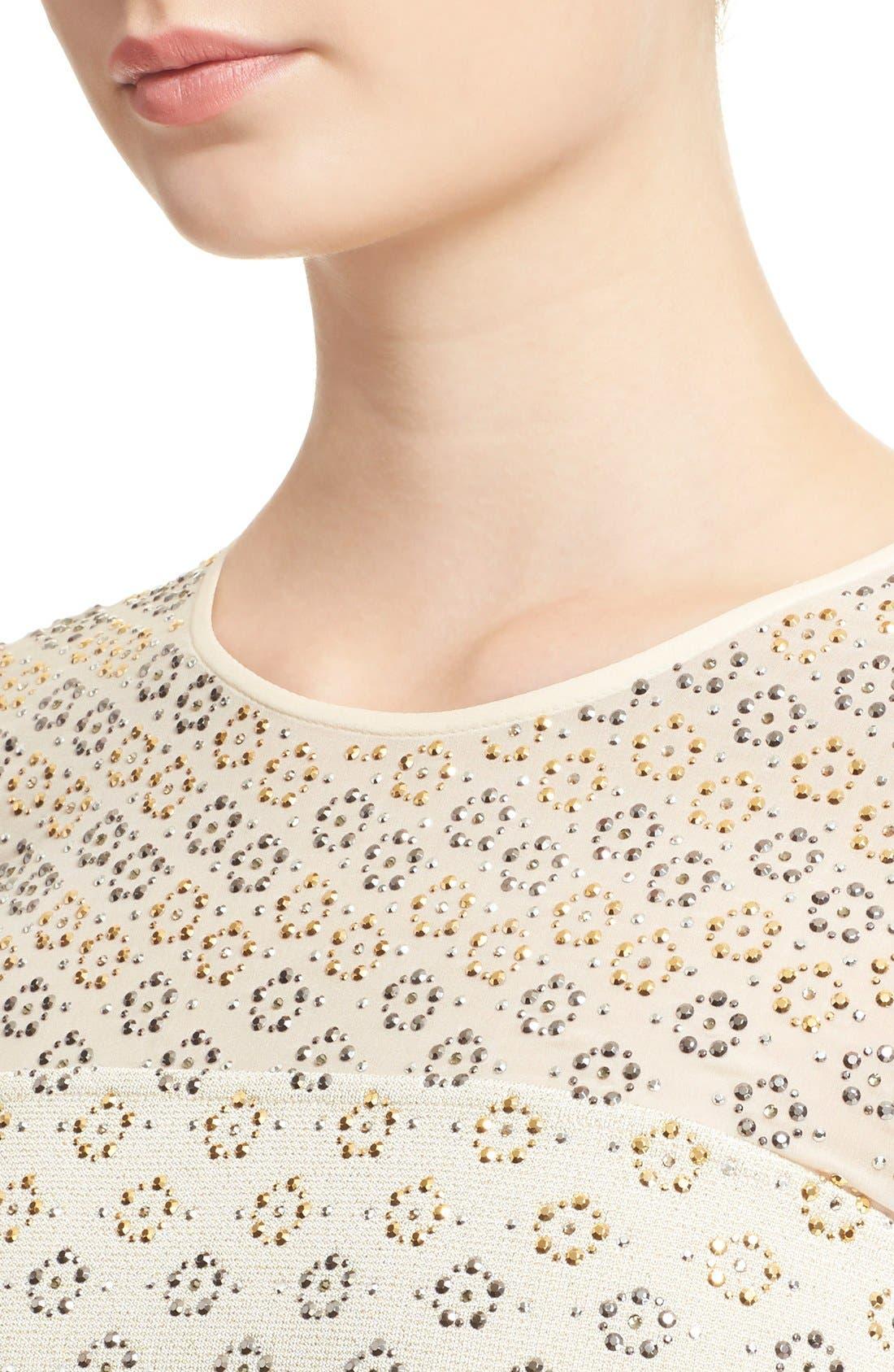 Alternate Image 6  - St. John Collection Crystal Embellished Shimmer Milano Knit Gown