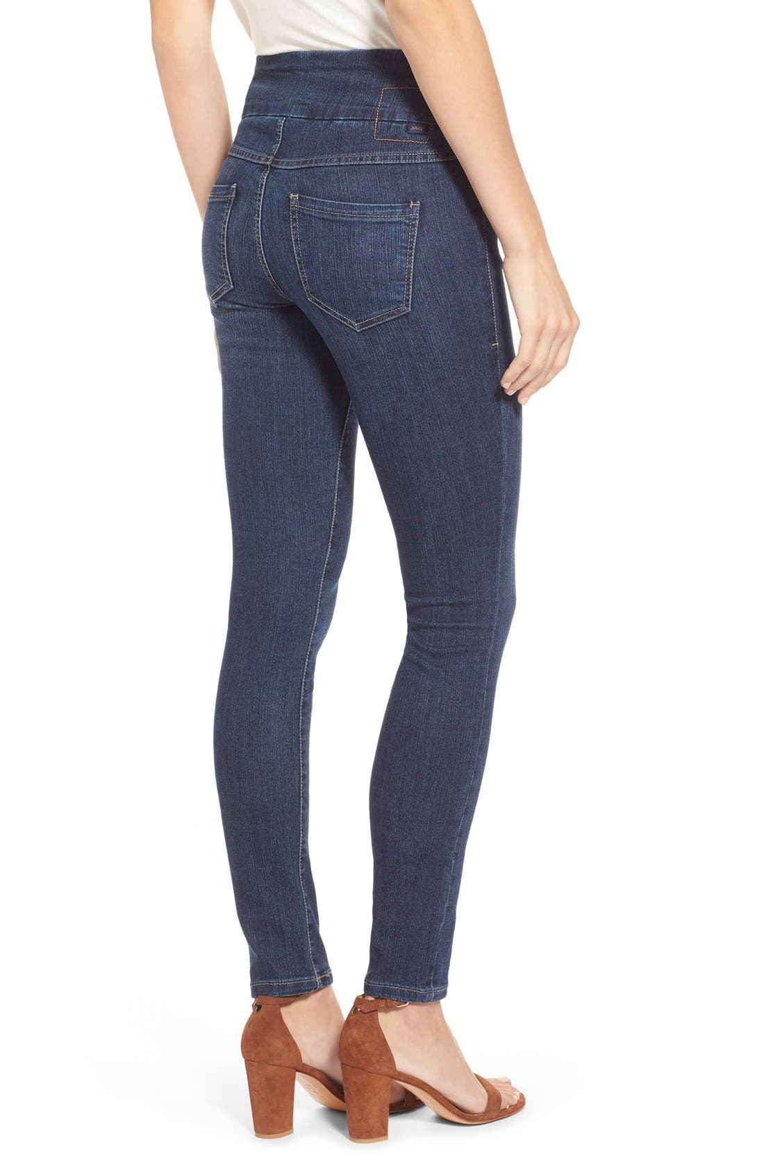 Alternate Image 2  - Jag Jeans 'Nora' Pull-On Stretch Skinny Jeans (Anchor Blue) (Regular & Petite)