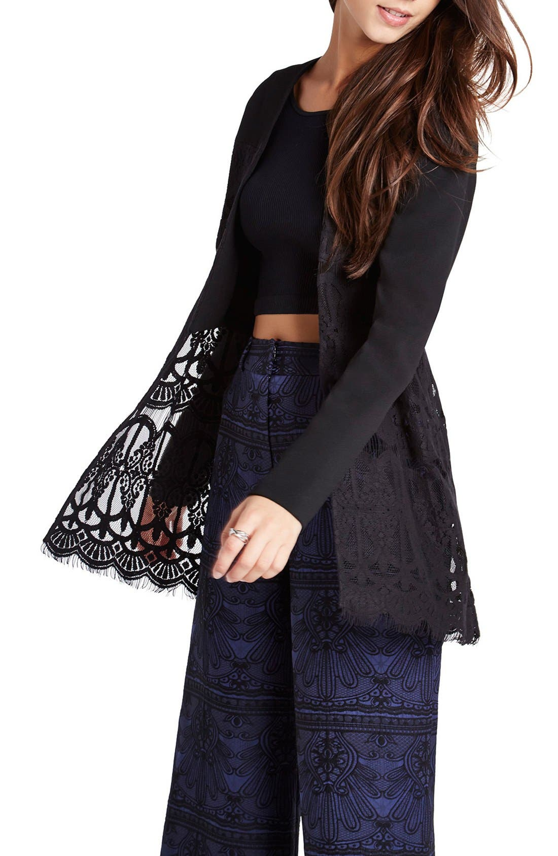 Main Image - BCBGeneration Lace & Georgette Jacket